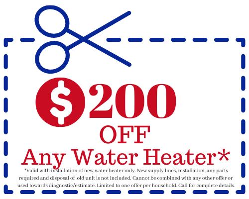 arizona vip plumbing $200 off water heater special